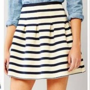 Gap Nautical Ponte Striped Fit Flare Full Skirt S